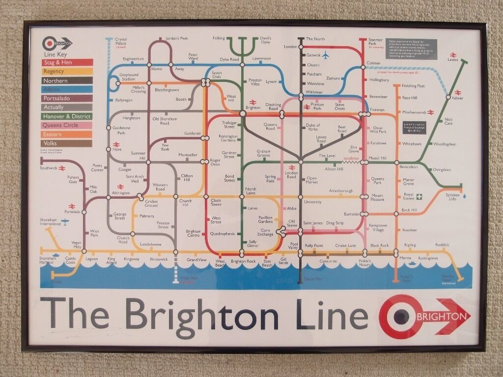 The Brighton Line framed print signed LIMITED EDITION