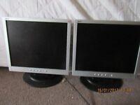 2 x computer screens
