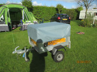 Erde 102 box trailer with hight cover,frame,hitch lock,spare wheel and jockey wheel