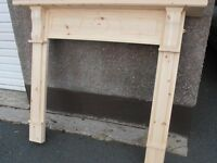 cancelled order solid pine fire place surround new