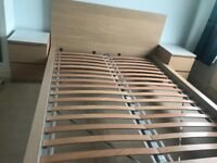 Ikea Malm range-king size bed frame, 6 drawer chest, 2 bedside cabinets. Excellent condition