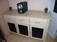 BEACH DINING ROOM SIDEBOARD....MATCHING TABLE AND 6 CHAIRS FOR SALE SEPARATLY RING ME IF BOTH REQ.