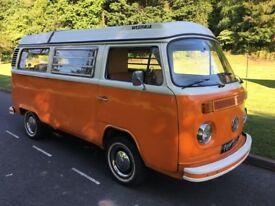 VW T2 Type 2 Bay Window 1973 Original Westfalia Campervan Tax Free MOT Exempt RHD Camper