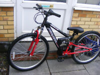 """BOYS 24"""" WHEEL BIKE 12"""" FRAME IN GREAT WORKING CONDITION AGE 8+"""