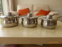 Set of 3 Stellar pans. Used but excellent condition.
