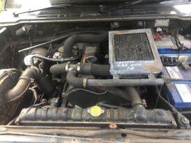 Mitsubishi Pajero 2.5d auto grey,silver/aluminium estate (03) complete engine