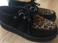 T.U.K. Leopard creeper shoes Size 7