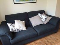 Three seater sofa for sale - Grey - £120