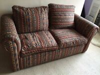 Two seater Argos fabric sofa bed