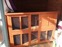 2 tier 5ft by 2ft rabbit hutch £55
