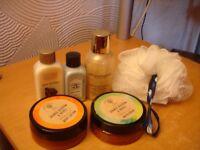 `Bath Soak/Body Lotion /Shower Gel and Scrunchie----New