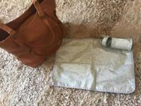 Next tan faux leather baby changing bag