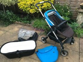 Silver cross wayfarer pram and pushchair