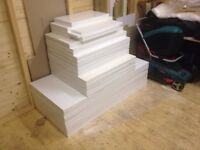 White Slab Kitchen Cupboard Doors & Drawer Fronts - slight damage / warped