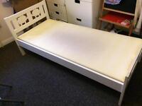 Ikea children's white wooden kritter bed