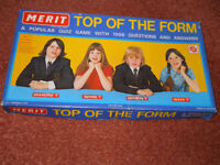 Vintage Merit Top Of The Form Board Game