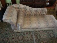 Superb Victorian mahogany Victorian Chaise Longue
