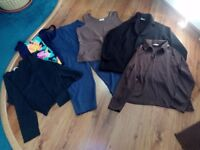 Selection of ladies clothes (Size 18) Tops, trousers etc