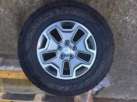 Goodyear Wrangler Tyres on Genuine Jeep Wrangler Alloy Wheels 245 75 17