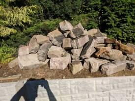 Various sized sandstone