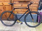No logo single speed fixie black bike bicycle