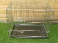 DOG CAGES SMALL £12 MEDIUM £20 LARGE £25 WITH TRAYS