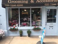 Experienced Dog Groomer wanted for busy shop in NW8. Flexible if needed.