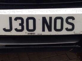 Number plate J30 NOS (Jones)