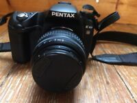 Pentax K10D Digital SLR Camera (18-55mm Lens) with cover