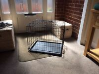 SMALL DOG CRATE, AS NEW USED FOR SIX WEEKS.IDEAL FOR PUPPY OR SMALL DOG