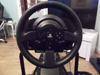 Thrustmaster T300 RS racing wheel including pedals