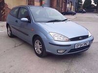 2004 (54) FORD FOCUS 1.8 ZETEC, MANUAL, PETROL, 3 DOORS, ONLY 75K, LONG MOT, ONLY 1 OWNER FROM NEW !