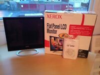 "XEROX 17"" FLAT PANEL LCD MONITOR IN EXCELLENT CONDITION IN BOX WITH INSTALLATION DISK AND STAND"