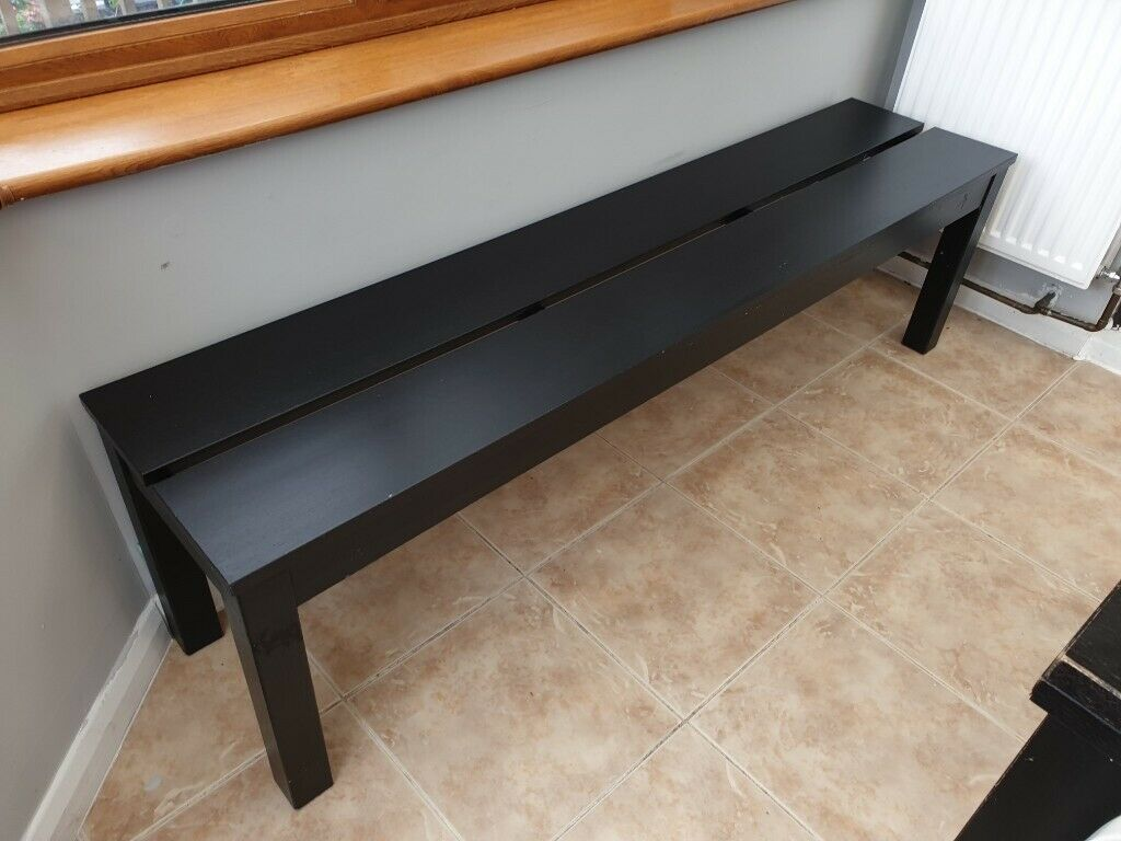 Ikea Bjursta Black Dining Bench In