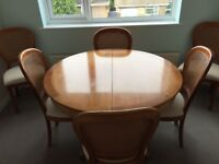 Grange Cherry Wood extendable Dining Table and six chairs
