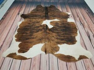 Tri Color Cowhide Rug 87 X 70 Inches 1576