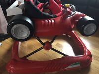 Ferrari baby walker F1 red hardly used