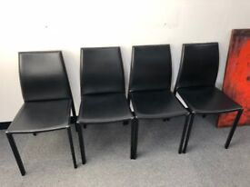 Dining Room Chairs x4 Black