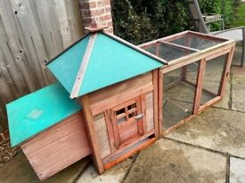 Chicken or Small Outdoor Animal Cage with Run attached.