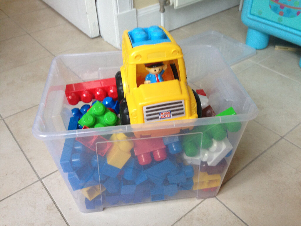 Mega Bloks 100+ pieces with Truck and driver