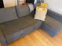 Ikea Friheten Corner Sofa bed grey
