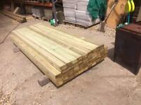 Timber 2x4 rails c24 construction grade treated wood