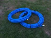 2x 50m of 20mm Blue Plastic MDPE Water Pipe (not duct)