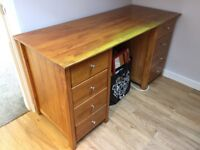Pine stained desk