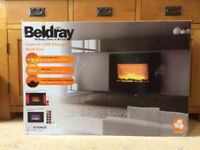 Beldray Imperial LED Changing Wall Fire Fireplace