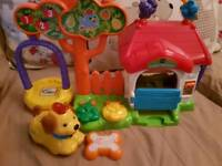 Vtech doggie play house with dog and bone excellent condition