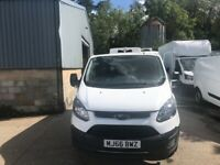 EURO 6 ULEZ COMPLIANT .NO VAT.1 OWNER.FORD TRANSIT CUSTOM FRIDGE VAN.READY FOR WORK