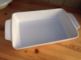 Oven / pie / roasting dish - white - rectangle - 18 available