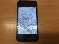 Broken Screen o2 network iPhone 4 (still working)
