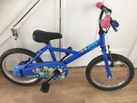 B Twin blue child's bike bicycle for age 3-5 approx - very good condition